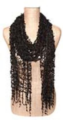 Picture of Hand-Made Confetti Lace Scarf - Black Ink