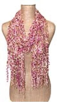 Picture of Hand-Made Confetti Lace Scarf - Orchid