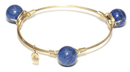 Picture of Rock Candy Bangle - Round Blue Lapis • Truth & Inner Power