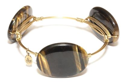Picture of Rock Candy Bangles - Tiger's Eye Large • Harmony & Creativity