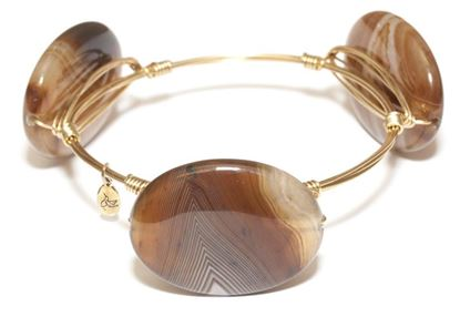 Picture of Rock Candy Bangles - Bronze Stripe Agate • Confidence & Balance