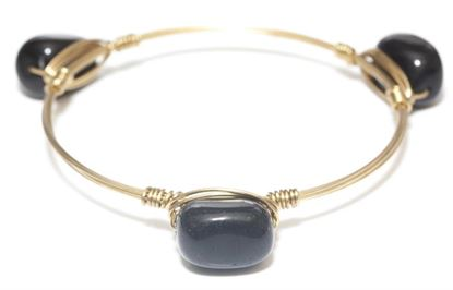 Picture of Rock Candy Bangles - Black Agate • Energy & Grounding