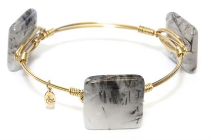 Picture of Rock Candy Bangles - Rutilated Quartz • Energize & Stability