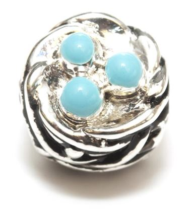 Picture of Silver Plated Bead - Birds Nest