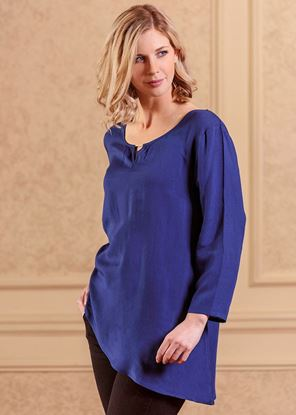 Picture of Asymmetrical Tunic 6-pc Size Run - Blue