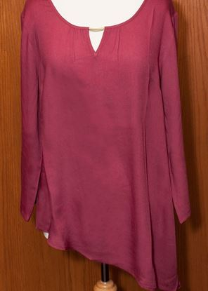 Picture of Asymmetrical Tunic 6-pc Size Run - Rhododendron