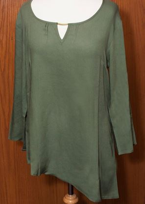 Picture of Asymmetrical Tunic 6-pc Size Run - Moss