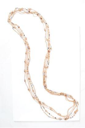 Picture of Long Metallic Multi-Strand Necklace - Copper