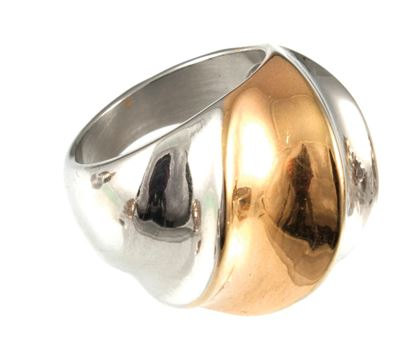 Picture of Chic Elements - Clarion Tri-Color Ring   Size 8