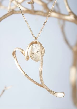 Picture of Crafted Metals Necklace - Gold I Love You Heart