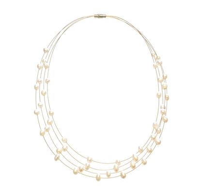 Picture of Amanda Blu Illusion Pearl Necklace on Gold Wire - Natural White