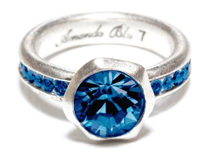 Picture of Size 9 Capri Blue Cache Antique Silver Ring
