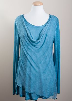 Picture of Cowl Drape Tunic - Teal