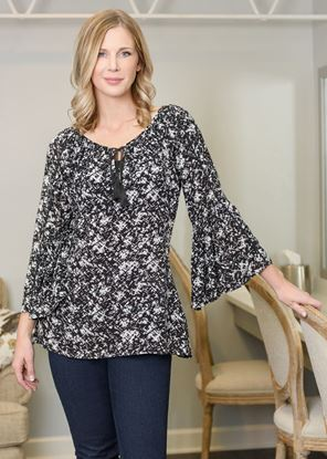 Picture of Bell Sleeve Tunic - Black