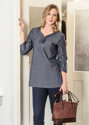 Picture of Chambray Tunic - Dark Denim