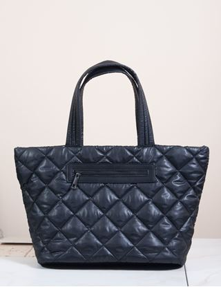 Picture of Signature Blu Handbag - Alivia Quilted Tote - Black