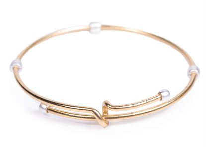 Picture of 2-Tone Adjustable Bangle - Gold with Silver