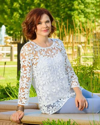 Picture of Daisy Crochet Tunic with Cami - White