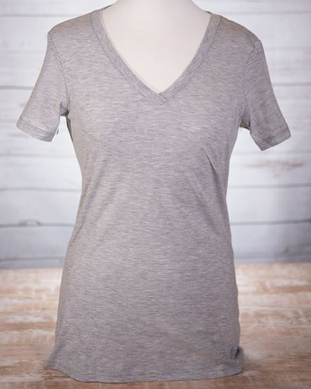 Picture of V-Neck T-Shirt - Heathered Gray
