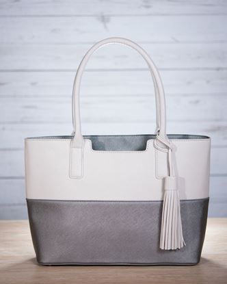 Picture of Stand-Up tote with Tassel - Gunmetal