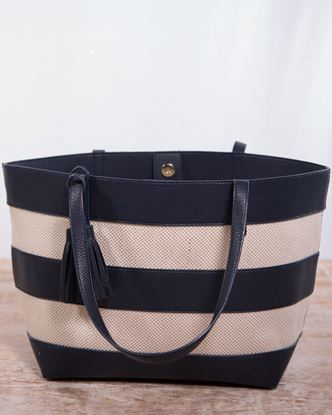 Picture of Hemp Tote with Tassels - Navy