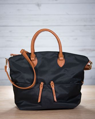 Picture of Nylon Crossbody Tote - Black