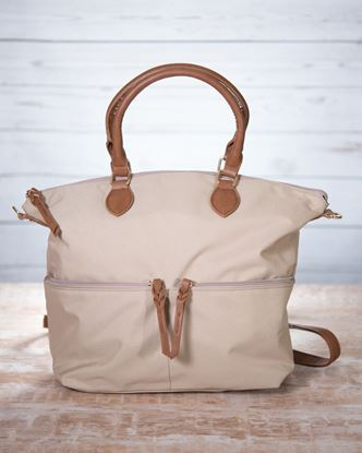 Picture of Nylon Crossbody Tote - Khaki
