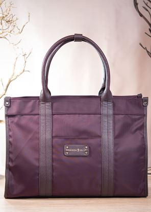 Picture of Nylon Shopper Tote - Claret