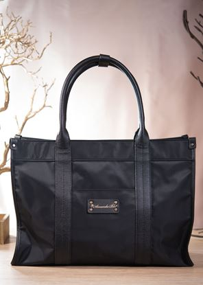 Picture of Nylon Shopper Tote - Black
