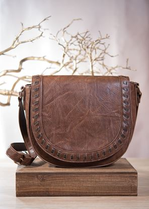 Picture of Whipstitch Saddle Bag - Acorn