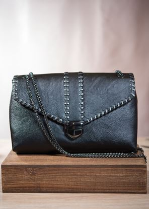 Picture of Envelope Clutch with Chain - Pewter