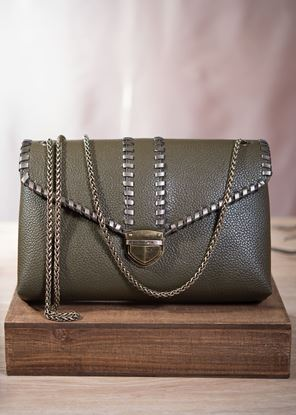 Picture of Envelope Clutch with Chain - Olivine