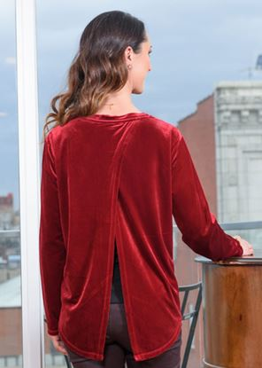 Picture of Open Back Velvet - Red
