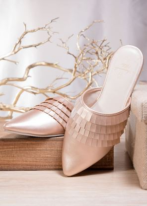 Picture of Fringe Mule - Rosegold