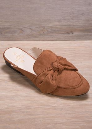 Picture of Sueded Bow Mule - Brown