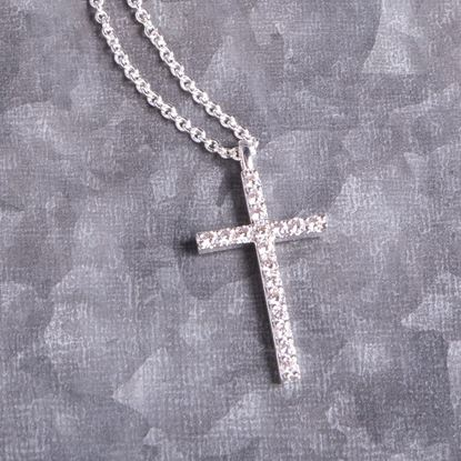 Picture of Cross Necklace - Silver