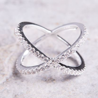 Picture of Criss-Cross Ring Size 9 - Silver