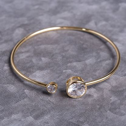 Picture of Bezel Set Bangle - Gold