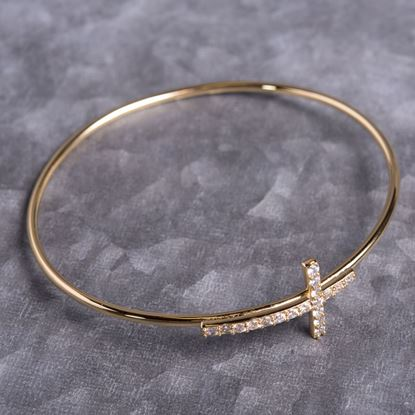 Picture of Cross Bangle - Gold