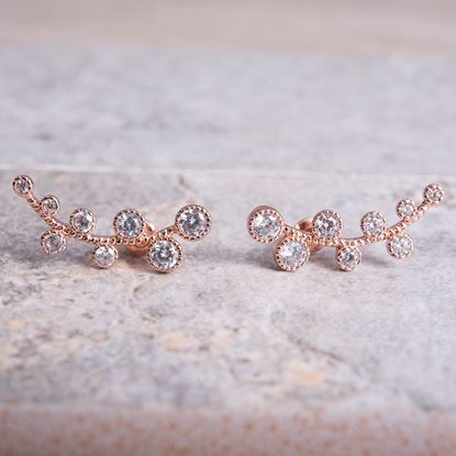 Picture of Ear Crawler Vine Earrings - Rosegold