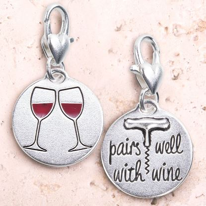 Picture of Silver 1-Tone Medallion - Wine Glasses