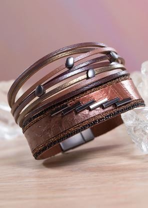 Picture of Leather Cuff Bracelet - Copper Bronze