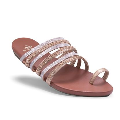 Picture of Bling Strappy Sandal - Rose Gold - Case of 12