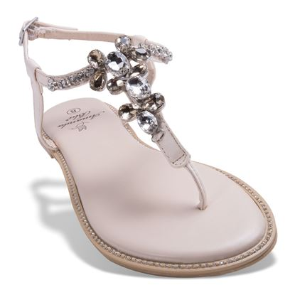 Picture of Catherine Crystal Bling Sandal - Diamond - Case of 12
