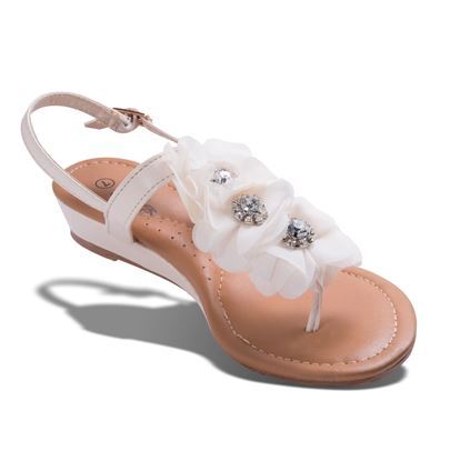 Picture of Charlotte Crystal Flower Wedge Sandal - Blush - Case of 12