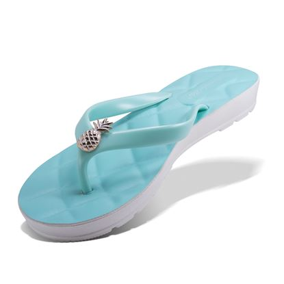 Picture of Quilted Pineapple Flip Flop - Turquoise - Case of 12