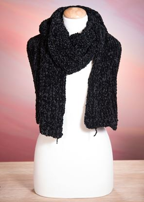Picture of Chenille Scarf - Black