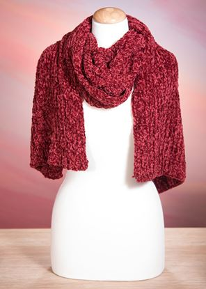 Picture of Chenille Scarf - Red