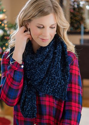 Picture of Chenille Scarf - Dark Blue