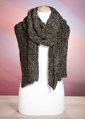 Picture of Chenille Scarf - Moss Green